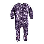 Burt's Bees Baby® Size 9M Organic Cotton Dandelions Footed Coverall in Purple
