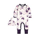 Burt's Bees Baby® Size 9M Exploded Petals Ruffle Coverall and Hat
