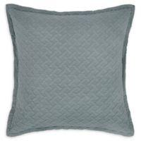 Basketweave European Pillow Sham in Jadeite