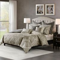 Madison Park Signature Plateau Queen Comforter Set in Dark Grey
