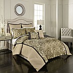 Vue Signature Sorrento Reversible Queen Comforter Set in Black