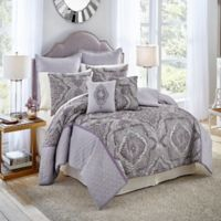 Vue Signature Charleston Queen Comforter Set in Purple