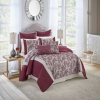 Vue® Signature Mercer 7-Piece Reversible Queen Comforter Set in Burgundy