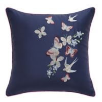 Ted Baker London Entangled Enchantment Embroidered Floral Throw Pillow