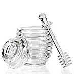 Prodyne 8 oz. 3-Piece Clear Honey Jar with Lid and Server Set