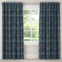 Skyline Furniture Bali 96-Inch Rod Pocket/Back Tab Blackout Window Curtain Panel in Indigo