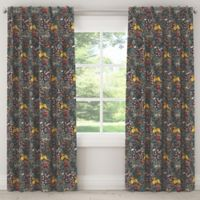 Skyline Furniture Frolic 108-Inch Rod Pocket/Back Tab Blackout Window Curtain Panel in Navy