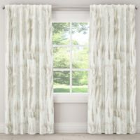 Skyline Furniture Batik 63-Inch Rod Pocket/Back Tab Window Curtain Panel in Grey