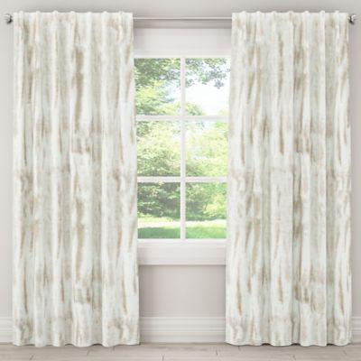 Skyline Furniture Batik 108 Inch Rod Pocket Back Tab Blackout Window Curtain Panel In