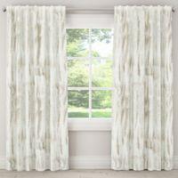 Skyline Furniture Batik 63-Inch Rod Pocket/Back Tab Blackout Window Curtain Panel in Grey