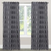 Skyline Furniture Handcut Shapes 120-Inch Rod Pocket/Back Tab Window Curtain Panel in Charcoal
