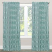 Skyline Furniture Handcut Shapes 84-Inch Rod Pocket Blackout Window Curtain Panel in Rain