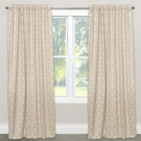 Skyline Furniture Pastis 120-Inch Rod Pocket/Back Tab Blackout Window Curtain Panel in Sand