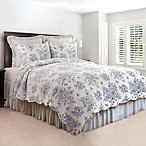 Nelly Onyx Reversible Full/Queen Quilt Set in Blue