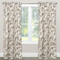 Skyline Furniture Roberta 120-Inch Rod Pocket Blackout Window Curtain Panel in Winter