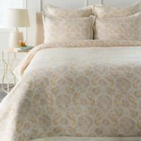 Surya Mona Botanical King/California King Duvet Cover Set in Rose/Grey