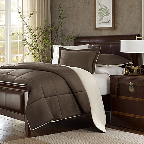 The Seasons® Down Alternative Twin Comforter Set in Chocolate