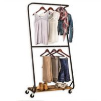 Honey-Can-Do® Rustic Z-Frame Double Bar Garment Rack