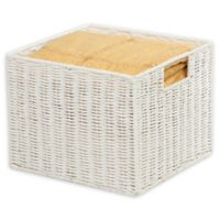 Honey-Can-Do® Paper Rope 12-Inch x 13-Inch Storage Crate in White