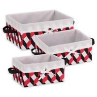 Honey-Can-Do® 3-Piece Woven Lined Tote Set in Black/Red/White