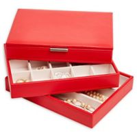 Mele & Co. Allie Jewelry Box in Red Faux Leather