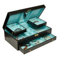 Mele & Co. Lana Jewelry Box in Black Faux Leather