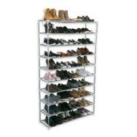 Simplify 10-Shelf Shoe Rack in Grey