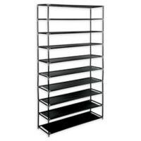 Simplify 10-Shelf Shoe Rack in Black