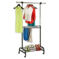 Honey-Can-Do® 52-Inch Adjustable Rolling Garment Valet in Chrome/Black