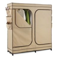 Honey-Can-Do® 60-Inch Double Door Cloth Storage Wardrobe with Shoe Organizer in Khaki