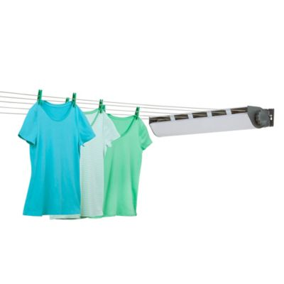 Honey Can Do® 5 Line Retractible Outdoor Clothes Drying Line In White