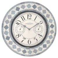 FirsTime® Patio Pavers 15-Inch Outdoor Wall Clock