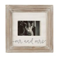 Mud Pie® 4-Inch x 6-inch Mr. and Mrs. Picture Frame in White