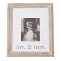 Mud Pie® Mr. And Mrs. 8-Inch x 10-Inch Wood Picture Frame
