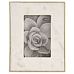 Mud Pie® 5-Inch x 7-Inch Marble Frame in White