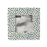 Mud Pie® Blue Mosaic Bone 4-Inch x 4-Inch Picture Frame