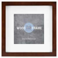 Gallery 8-Inch x 8-Inch Matted Wood Picture Frame with Espresso Painted Finish