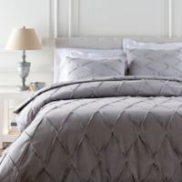 Surya Aiken Full/Queen Duvet Cover Set in Grey/Silver