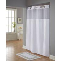 HooklessR Classic Herringbone Shower Curtain In White