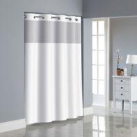 Hookless® Herringbone Shower Curtain in Bright White