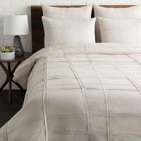 Surya Haru King/California King Duvet Cover Set in Light Grey