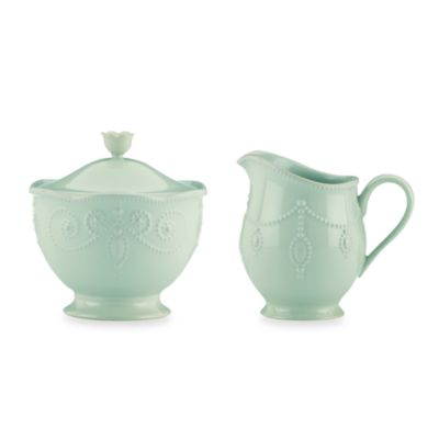Lenox® French Perle™ Sugar Bowl And Creamer In Ice Blue
