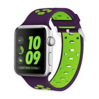 Element Works Apple Watch® 38mm Silicone Band in Purple/Green
