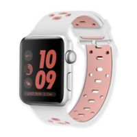Element Works Apple Watch® 42mm Silicone Band in White/Pink