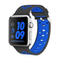Element Works Apple Watch® 42mm Silicone Band in Black/Blue