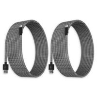 Element Works 10' Braided Cable Chargers in Black/White (Set of 2)