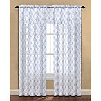 Arratez 84-Inch Rod Pocket Sheer Window Curtain Panel in Grey