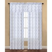 Arratez 108-Inch Rod Pocket Sheer Window Curtain Panel in Grey