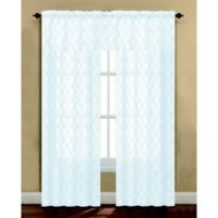 Arratez 108-Inch Rod Pocket Sheer Window Curtain Panel in White