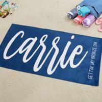 Scripty Style Beach Towel
